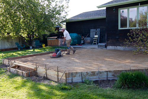 pouring concrete patio images